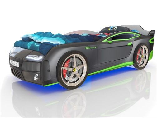Кровать-машина Kiddy тёмно-серая - фото 10840