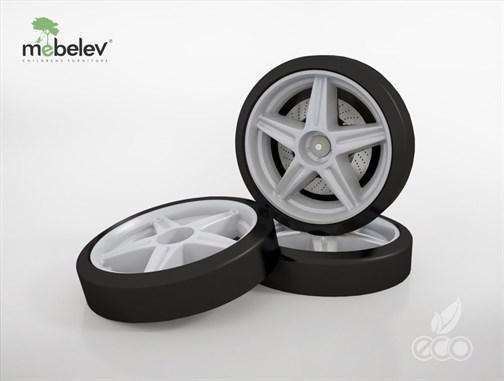Объемные пластиковые колеса для серии Light, Ауди А4 и Камаро (комп. 2 шт.) - фото 12151