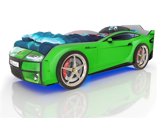 Кровать-машина Kiddy Зеленая - фото 12606