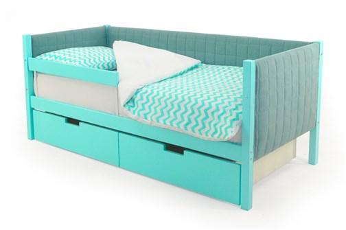 Детская кровать-тахта мягкая «Svogen мятный» - фото 13228