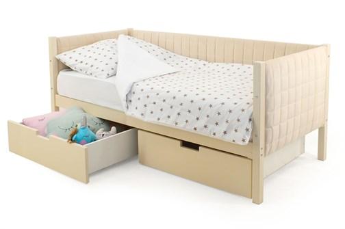 Детская кровать-тахта мягкая «Svogen бежевый» - фото 13253