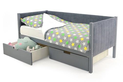 Детская кровать-тахта мягкая «Svogen графит» - фото 13266