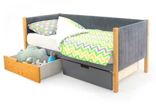 Детская кровать-тахта мягкая «Svogen дерево-графит» - фото 13310