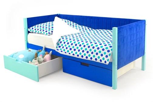 Детская кровать-тахта мягкая «Svogen мятно-синий» - фото 13363