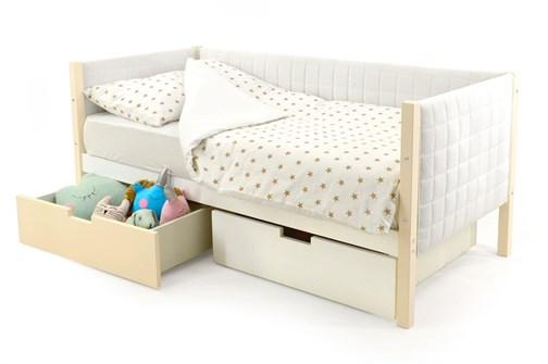 Детская кровать-тахта мягкая «Skogen бежево-белый» - фото 13376