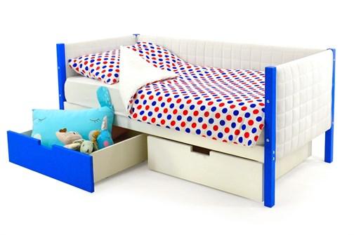 Детская кровать-тахта мягкая «Svogen сине-белый» - фото 13406