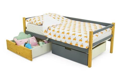 Детская деревянная кровать-тахта «Svogen дерево-графит» - фото 13423