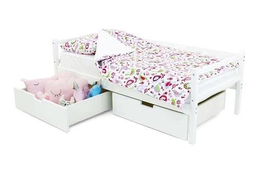 Детская деревянная кровать-тахта «Svogen белый» - фото 13485