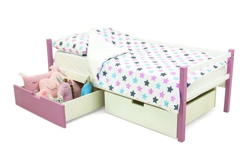 Детская деревянная кровать-тахта «Svogen лаванда-белый» - фото 13495