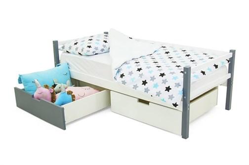 Детская деревянная кровать-тахта «Svogen графит-белый» - фото 13505
