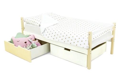 Детская деревянная кровать-тахта «Svogen бежево-белый» - фото 13535