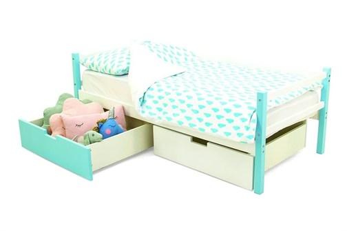 Детская деревянная кровать-тахта «Svogen мятно-белый» - фото 13545