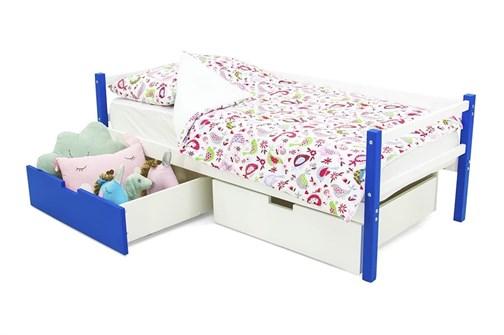 Детская деревянная кровать-тахта «Svogen сине-белый» - фото 13585