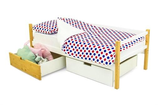 Детская деревянная кровать-тахта «Skogen дерево-белый» - фото 13615