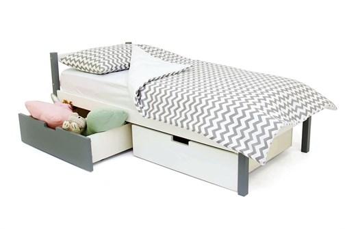 Детская кровать «Svogen Classic графит-белый» - фото 13676