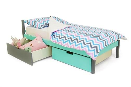 Детская кровать «Skogen classic графит-мятный» - фото 13741