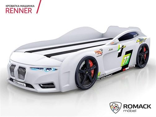 Кровать-машина Romack Renner-2 (2019) Белая - фото 15014