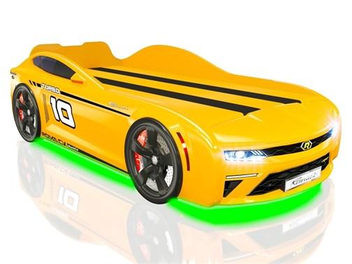 Кровать-машина Romack Energy Желтая - фото 15094