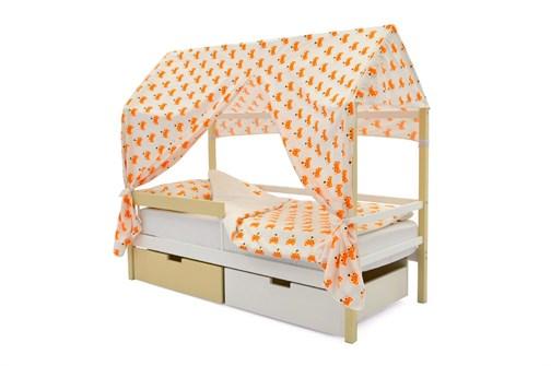 """Детская кровать-домик """"Svogen бежево-белый"""" - фото 17368"""