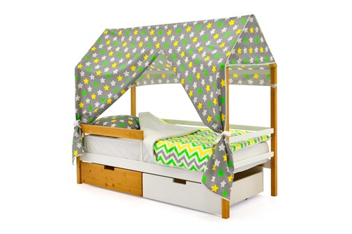 """Детская кровать-домик """"Svogen дерево-белый"""" - фото 17503"""