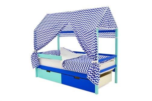 """Детская кровать-домик """"Svogen мятно-синий"""" - фото 17665"""