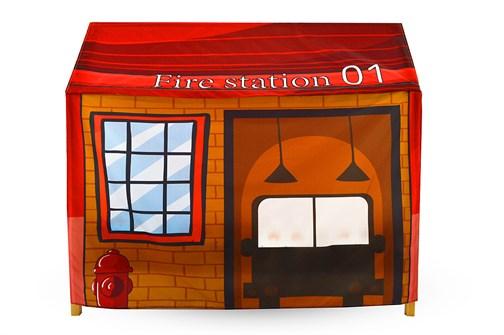 Игровая накидка для кровати-домика Svogen «Пожарная станция» - фото 18054