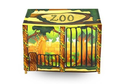 Игровая накидка для кровати-домика Svogen «Зоопарк» - фото 18072