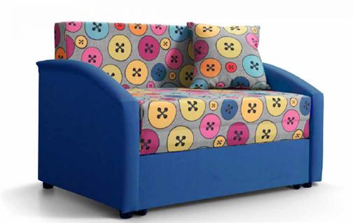 "Детский диван ""Даня"" (принт Пуговки blu) - фото 20837"