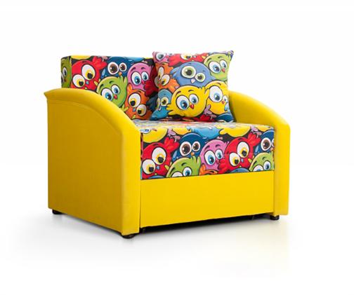 """Детский диван """"Даня"""" (принт Смешные птицы) - фото 20853"""