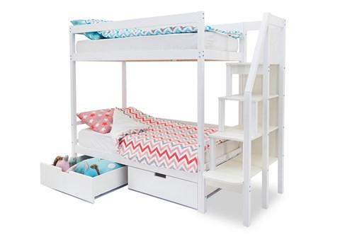 Двухъярусная кровать «Svogen» белый - фото 21158