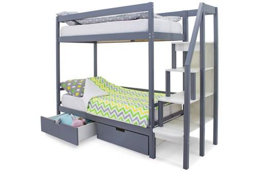 Двухъярусная кровать «Svogen» графит - фото 21205