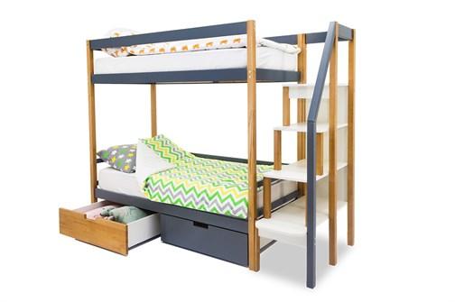 Двухъярусная кровать «Svogen» дерево-графит - фото 21228