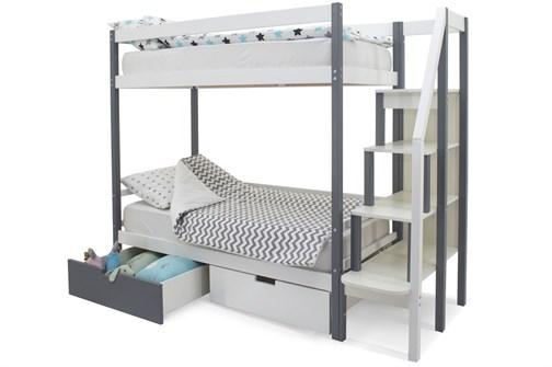 Двухъярусная кровать «Svogen» графит-белый - фото 21240