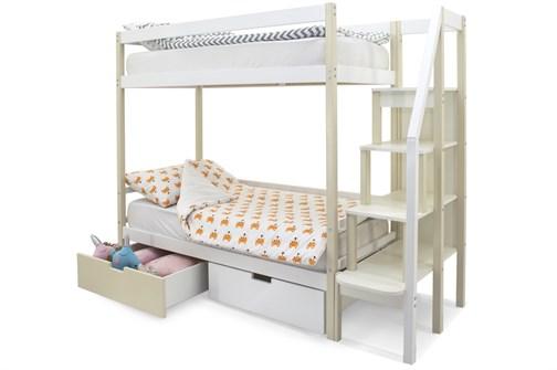 Двухъярусная кровать «Svogen» бежево-белый - фото 21286