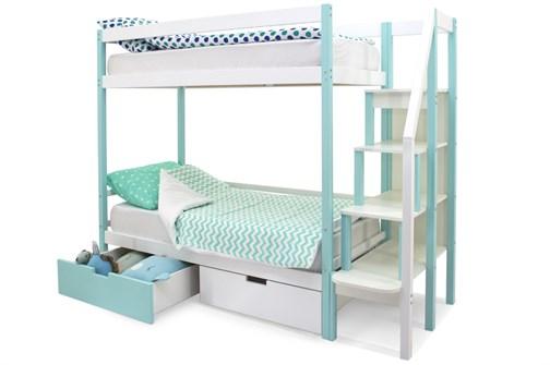 Двухъярусная кровать «Svogen» мятно-белый - фото 21323
