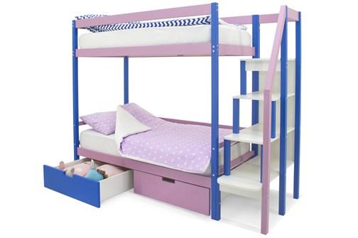 Двухъярусная кровать «Svogen» синий-лаванда - фото 21395