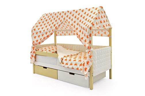Кровать-домик мягкий «Svogen бежево-белый» - фото 21721