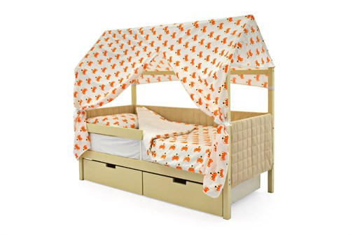 Кровать-домик мягкий «Svogen бежевый» - фото 21782