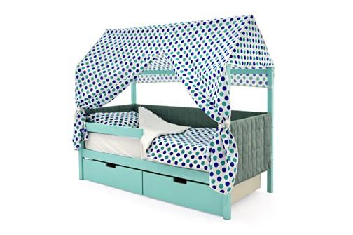 Кровать-домик мягкий «Svogen мятный» - фото 21792