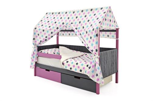 Кровать-домик мягкий «Svogen лаванда-графит» - фото 21833