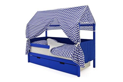 Кровать-домик мягкий «Svogen синий» - фото 21898