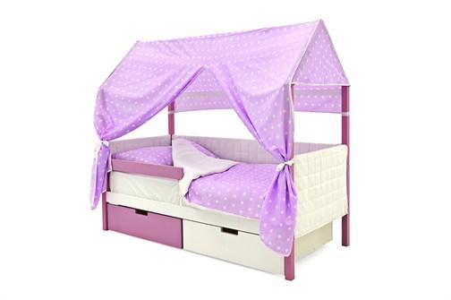 Кровать-домик мягкий «Svogen лаванда-белый» - фото 21911