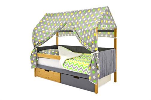 Кровать-домик мягкий «Svogen дерево-графит» - фото 21922
