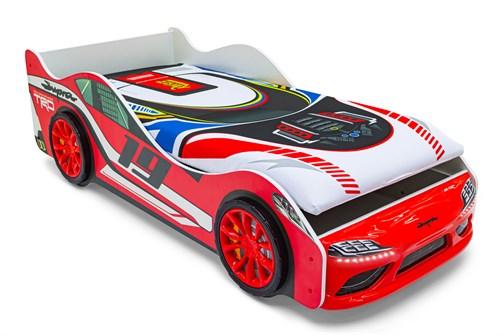 """Кровать-машина """"Супра"""" красная с подъемным механизмом и подсветкой фар - фото 24157"""