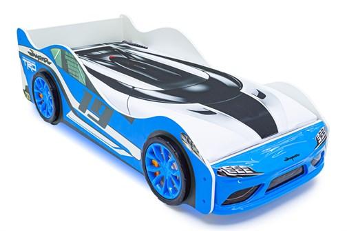 """Кровать-машина """"Супра"""" синяя с подъемным механизмом - фото 24666"""