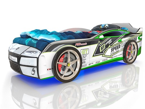 Кровать-машина Kiddy Спорт Стрелы - фото 6251