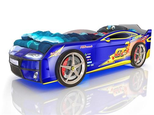 Кровать-машина Kiddy Синяя Молния - фото 6281