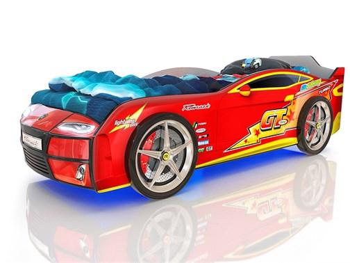Кровать-машина Kiddy Красная Молния - фото 6291