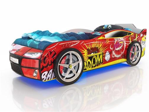 Кровать-машина Kiddy Красный Бум - фото 6351