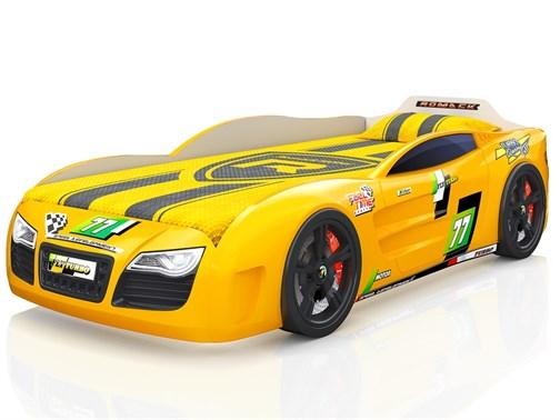 Кровать-машина Renner 2 Желтая - фото 6673